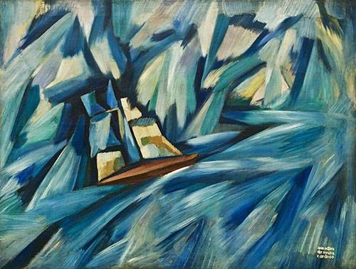 abstrakte-gemaelde - A Chalupa, 1914-15 - Souza-Cardoso, Amadeo de