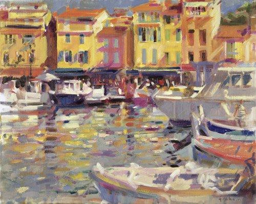 moderne-gemaelde - Harbour at Cassis (oil on canvas) - Graham, Peter