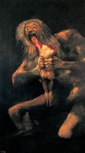 portraetgemaelde - Saturno devorando a un hijo(1821-23) - Goya y Lucientes, Francisco de