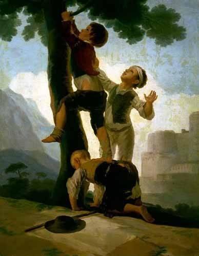portraetgemaelde - Niños trepando a un árbol - Goya y Lucientes, Francisco de