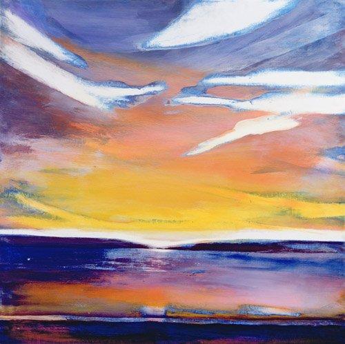 abstrakte-gemaelde - Abend Seelandschaft - Gibbs, Lou