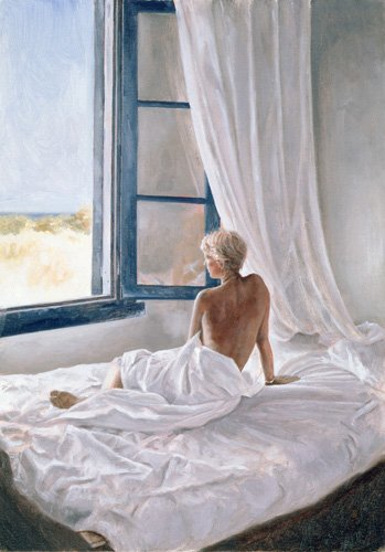 kuenstlerische-aktbilder - Afternoon View (oil on canvas) - Worthington, John