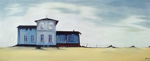 landschaften-gemaelde - Wide Blue (oil on canvas) - Bianchi, Ana
