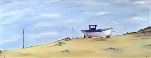 landschaften-gemaelde - Beached (oil on canvas) - Bianchi, Ana