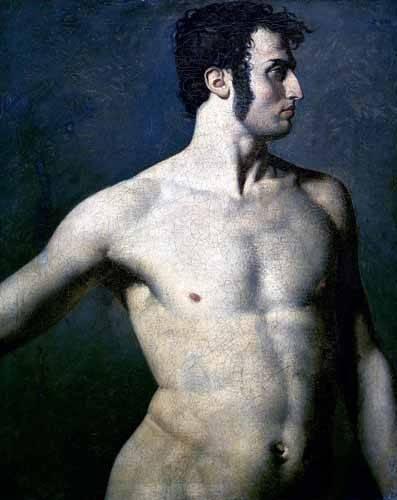 portraetgemaelde - Torse d'homme - Ingres, Jean-Auguste-Dominique