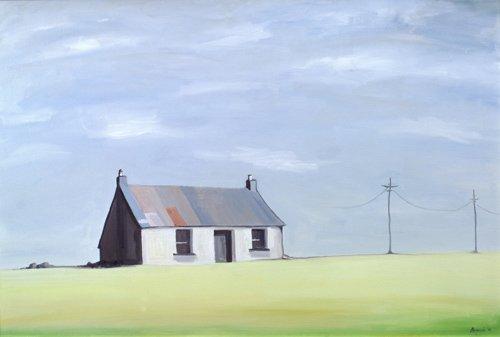 landschaften-gemaelde - This Old House (oil on canvas) - Bianchi, Ana