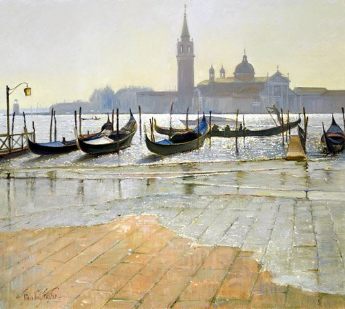 seelandschaft - Venice at Dawn (oil on canvas) - Easton, Timothy