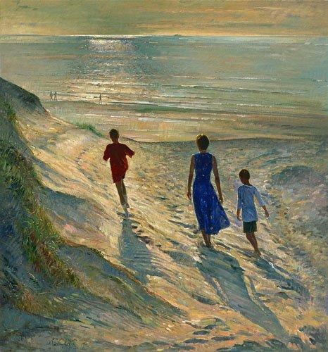 seelandschaft - Beach Walk, 1994 - Easton, Timothy