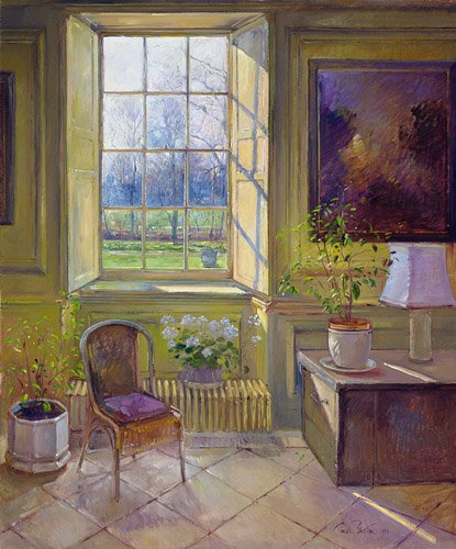 bilder-fuer-ein-esszimmer - Spring Light and The Tangerine Trees - Easton, Timothy
