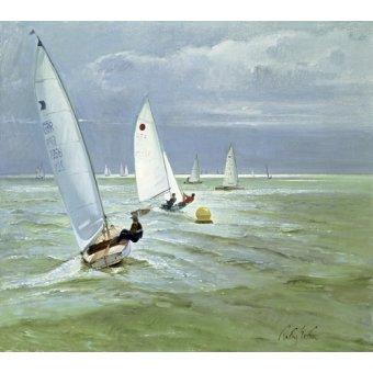 Seelandschaft - Around the Buoy (oil on canvas) - Easton, Timothy