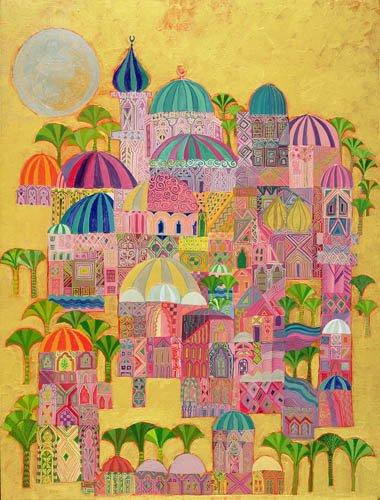 orientalische-gemaelde - The Golden City, 1993-94 - Shawa, Laila