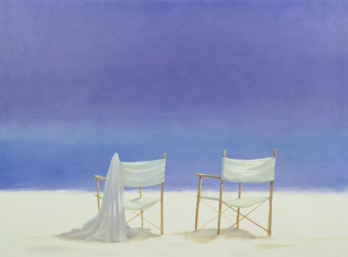 seelandschaft - Chairs on the beach, 1995 - Seligman, Lincoln