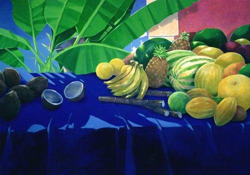 stillleben-gemaelde - Tropical Fruit - Seligman, Lincoln