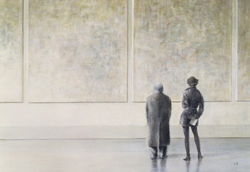 moderne-gemaelde - Man and Woman in an Art Gallery - Seligman, Lincoln