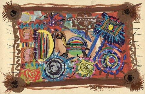 orientalische-gemaelde - Turtle Wisdom, 2003 - Perrin, Oglafa Ebitari