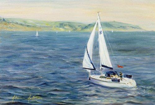 seelandschaft - Sailing Home, 1999 - Myatt, Antonia