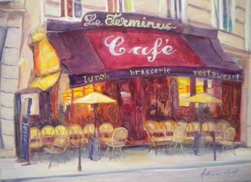 moderne-gemaelde - Cafe le Terminus, 2010 - Myatt, Antonia