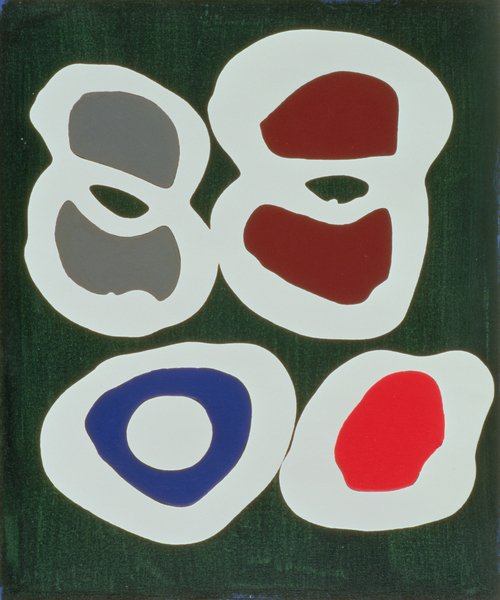 moderne-gemaelde - Cross-Cut, 1998 (acrylic on canvas) - Booth, Colin