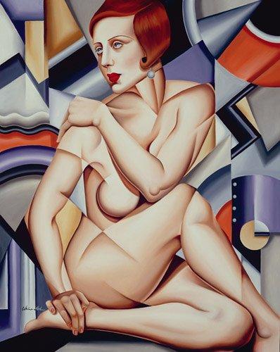 portraetgemaelde - Cubist Nude (oil on canvas) - Abel, Catherine