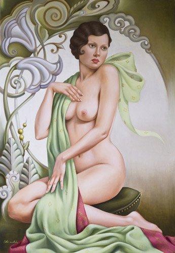 portraetgemaelde - Petite Libellule (oil on linen) - Abel, Catherine