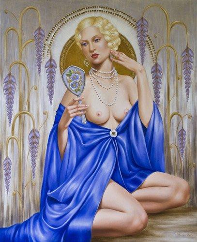 portraetgemaelde - Rhapsody in Blue (oil on canvas) - Abel, Catherine