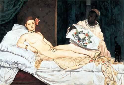 portraetgemaelde - Olympia, 1863 - Manet, Eduard
