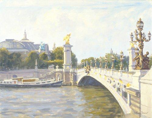 moderne-gemaelde - Pont Alexandre III, Paris (oil on canvas) - Barrow, Julian