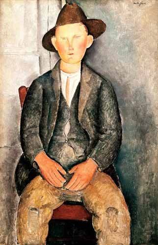 portraetgemaelde - El pequeño campesino - Modigliani, Amedeo