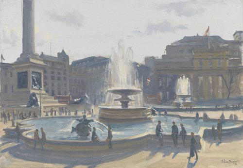 moderne-gemaelde - Trafalgar Square, 2010 (oil on canvas) - Barrow, Julian