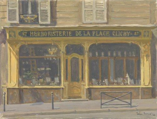 moderne-gemaelde - Herboristerie de la Place Clichy, 2010 (oil on canvas) - Barrow, Julian