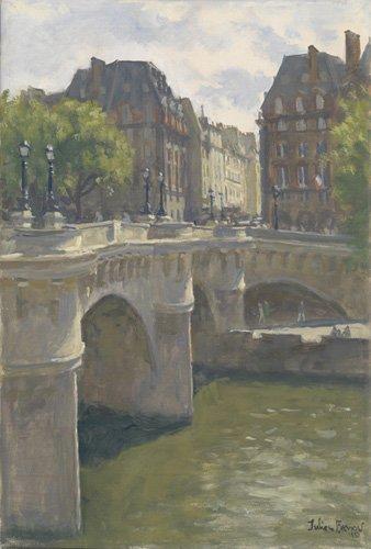 moderne-gemaelde - Pont Neuf, 2010 (oil on canvas) - Barrow, Julian