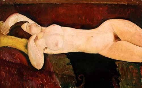 portraetgemaelde - Desnudo femenino acostado - Modigliani, Amedeo