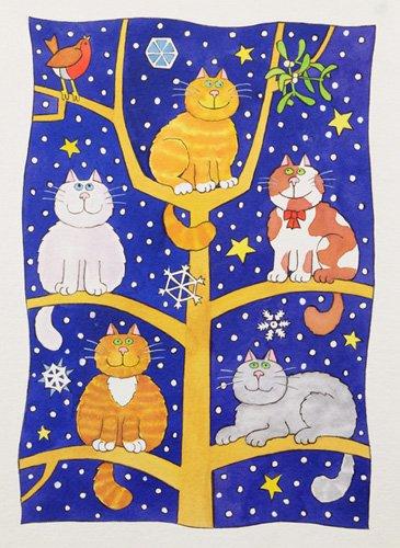 kinderzimmer - Five Christmas Cats - Baxter, Cathy