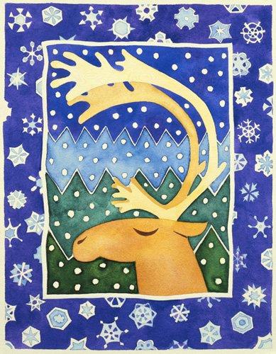 kinderzimmer - Reindeer and Snowflakes - Baxter, Cathy