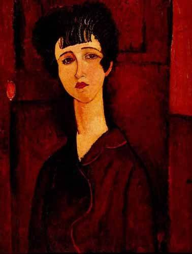 portraetgemaelde - Portrait d'une jeune fille - Modigliani, Amedeo