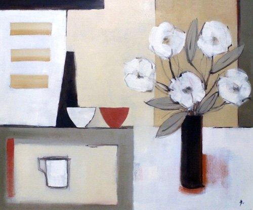 moderne-gemaelde - Saki (oil on canvas) - Bianchi, Ana