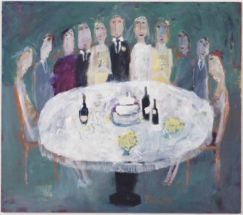 moderne-gemaelde - Hochzeitsfrühstück, 2007 - Bower, Susan