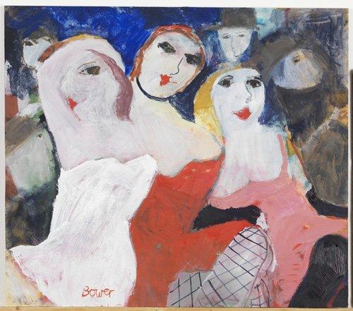 moderne-gemaelde - Die schönen Damen, 2009 (oil on board) - Bower, Susan