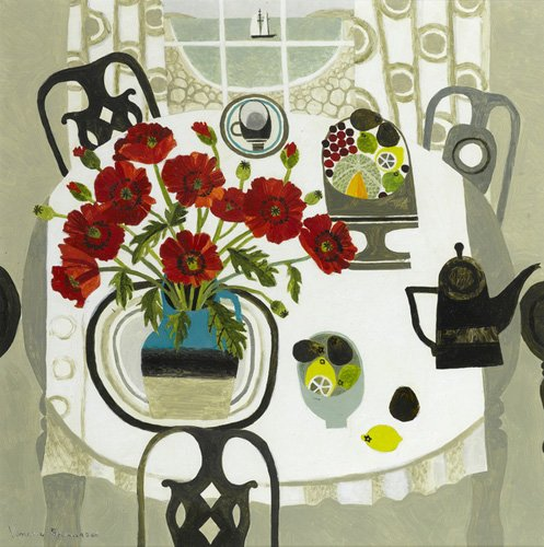 moderne-gemaelde - Rote Mohnblumen und Strand - Bowman, Vanessa