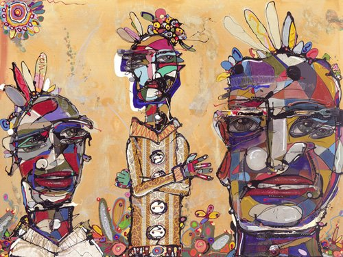 orientalische-gemaelde - Filmic, 2007 (mixed media) - Breslin, Anthony