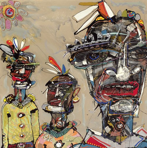 orientalische-gemaelde - Feathers Forever, 2006 (mixed media) - Breslin, Anthony