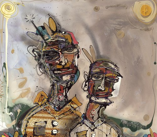 orientalische-gemaelde - Waiting for Godot, 2005 (mixed media) - Breslin, Anthony