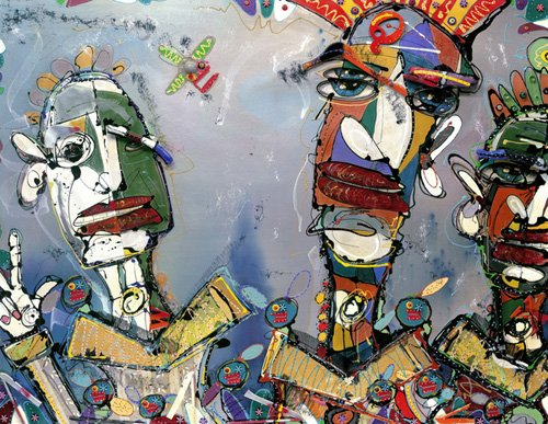 orientalische-gemaelde - Kraftwork, 2006 (mixed media) - Breslin, Anthony