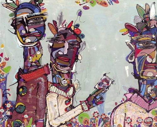 orientalische-gemaelde - Have You Seen This Man, 2007 (mixed media) - Breslin, Anthony