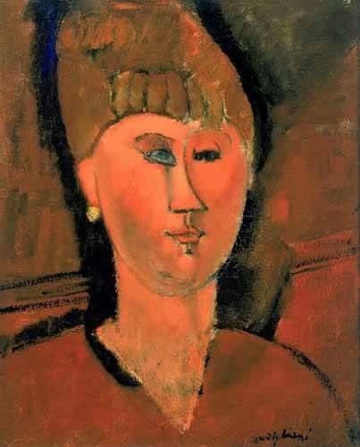 portraetgemaelde - La chica roja - Modigliani, Amedeo