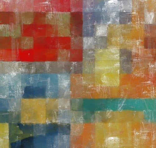 moderne-gemaelde - as a flag,2017,(mixed media) - Caminker, Alex