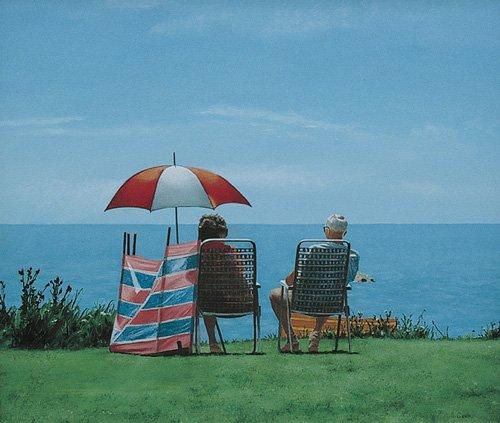 moderne-gemaelde - Sonnenschirm - Cook, Simon