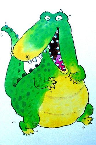 kinderzimmer - Happy Crocodile (w.c & ink on paper) - Christie, Maylee