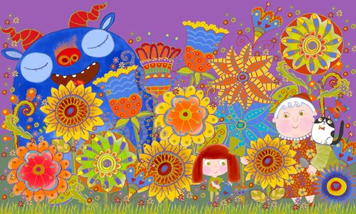 kinderzimmer - Nan's Garden, 2017 (mixed media) - Christie, Maylee