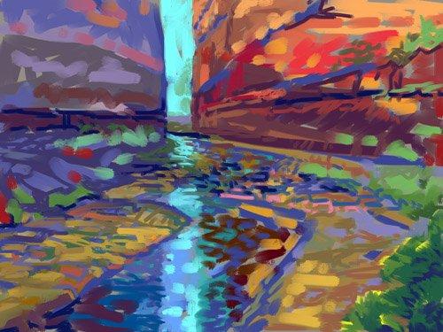 landschaften-gemaelde - Filtered Light - Ganz, Howard